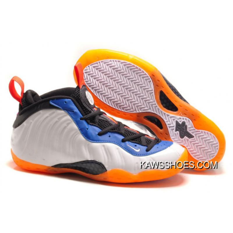 newest e383a ba597 New Air Foamposite One Nike Blue Orange White Shoes TopDeals