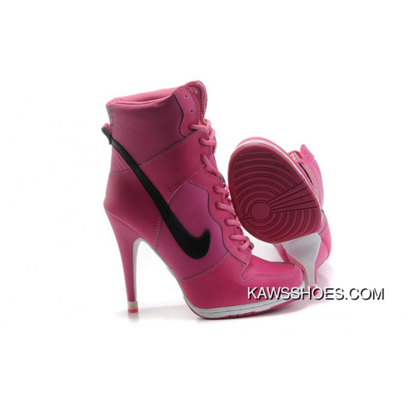 4d787a27beca ... New Nike Dunk High Heels Women Black Pink Shoes TopDeals ...