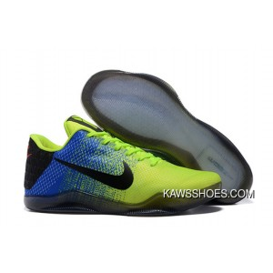 competitive price 8c78d 462ad New Nike Kobe 11 Kobe Basketball Shoes Volt Black Blue Shoes TopDeals ...