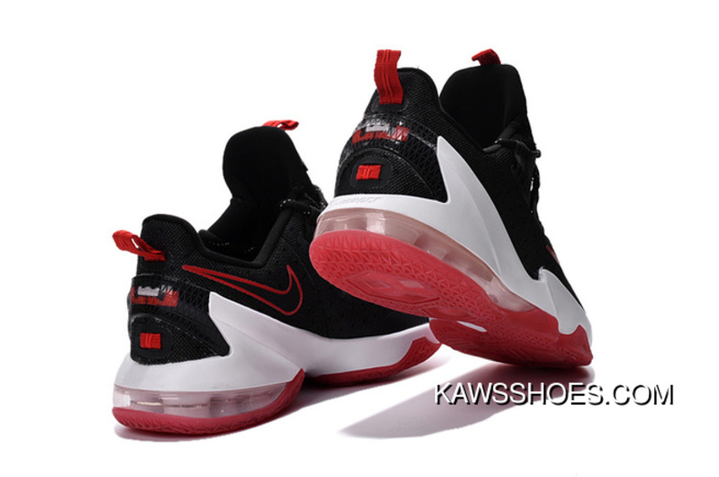 half off 03461 6ef01 New Nike Lebron 13 Low Red Black B Shoes TopDeals