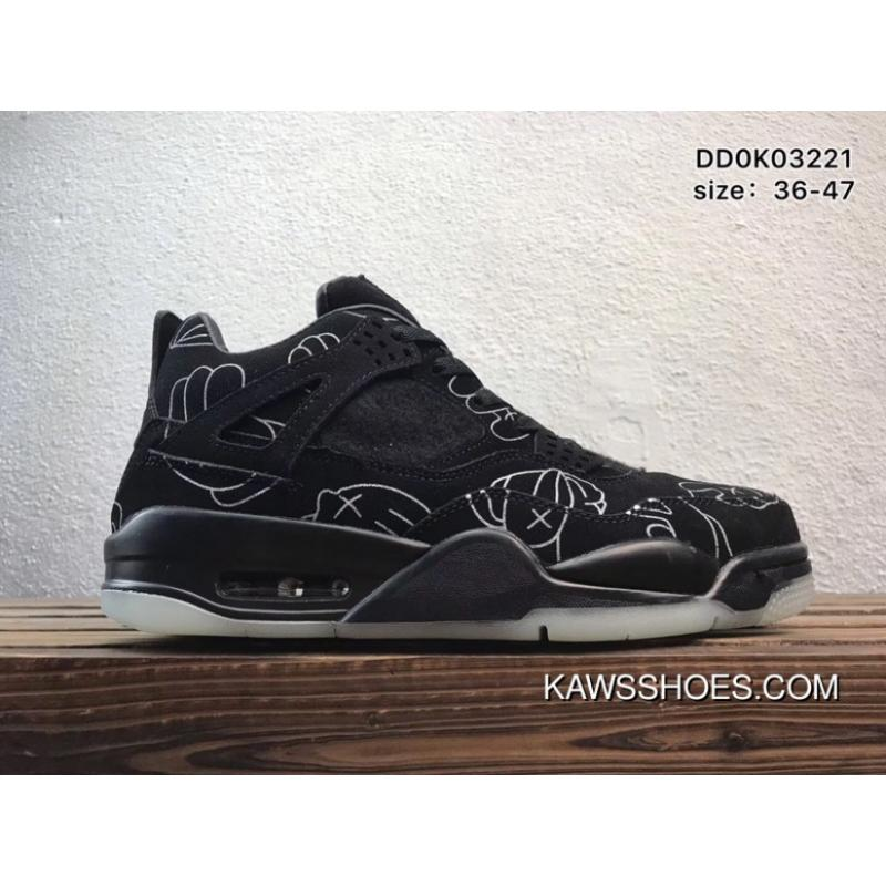 competitive price 4ab57 e5c89 AJ4 Kaws X Air Jordan 4 Black Best