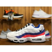 quality design d4d93 941ea 22011 Nike Air Max 95 AM95 White Blue Zoom Women And Men Running Shoes  749766-