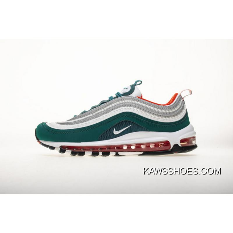 outlet store sale 283f5 b14af Women/Men Dark Green Orange 921522 300 Nike Air Max 97 GS Miami Dolphins  For Sale