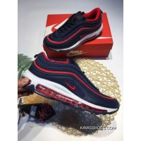 quality design 3152a bdc60 Max97 Zoom Navy Blue Red Nike Classic 97 Paragraph Retro Running Shoes Air  Max 97Na97 Online