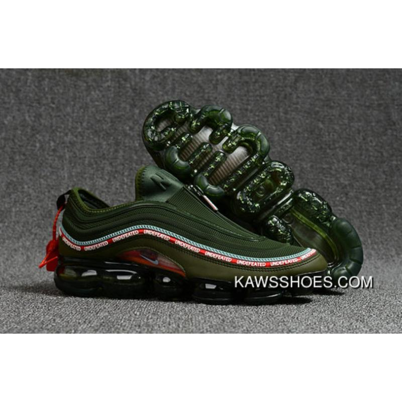 meet 2c497 a5348 2018 Nike Air Max 97 X Air Vapormax Mens Army Green Red Free Shipping