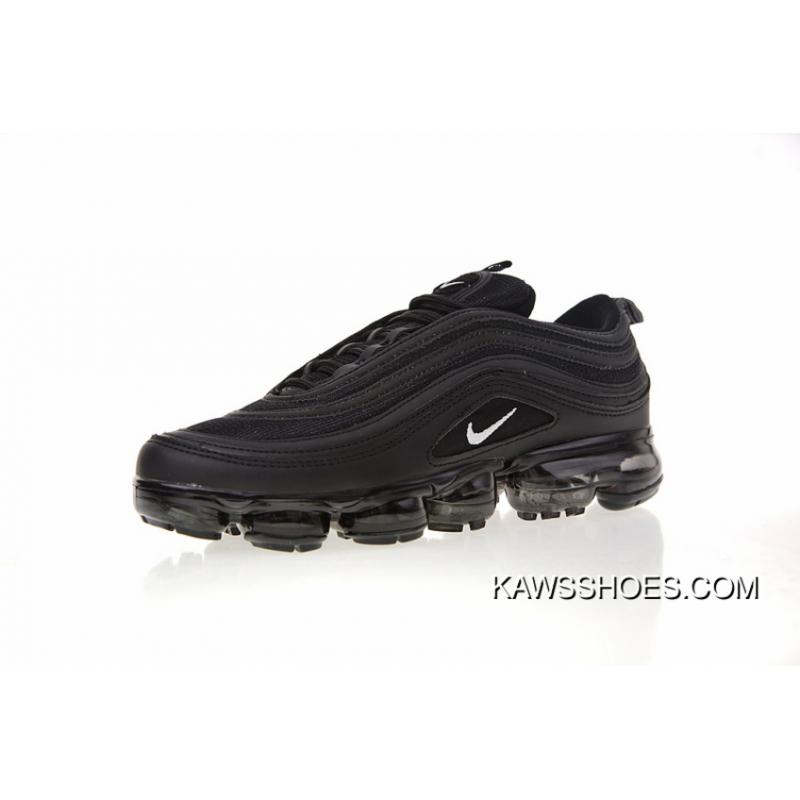 best cheap bb933 80810 Violent Mixing Nike Air 97 Steam VaporMax Zoom Air Jogging Shoes All Black  White Hooks AO4542-001 New Year Deals