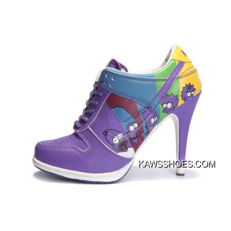the latest e155f 1197d New Nike Dunk High Heels Purple Simpson Chracters Shoes TopDeals