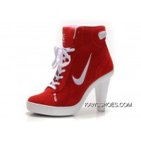 9986d7c5be0f New Red White Womens Nike Heels Dunk High Heels Shoes TopDeals