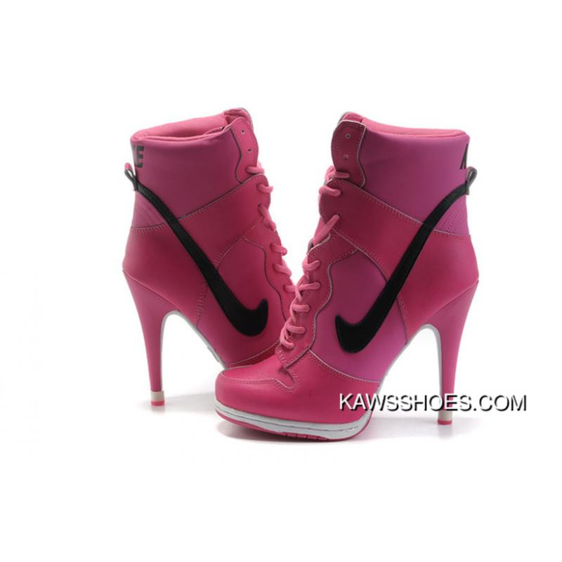 super popular b1bce 12ca7 New Nike Dunk High Heels Women Black Pink Shoes TopDeals ...