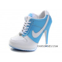 ddb3c2ddb9fa New Blue White Women Nike High Heels Shoes Shoes TopDeals