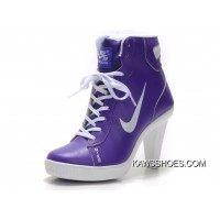 99441e682938 New Nike Dunk Heels Women White Purple Shoes TopDeals