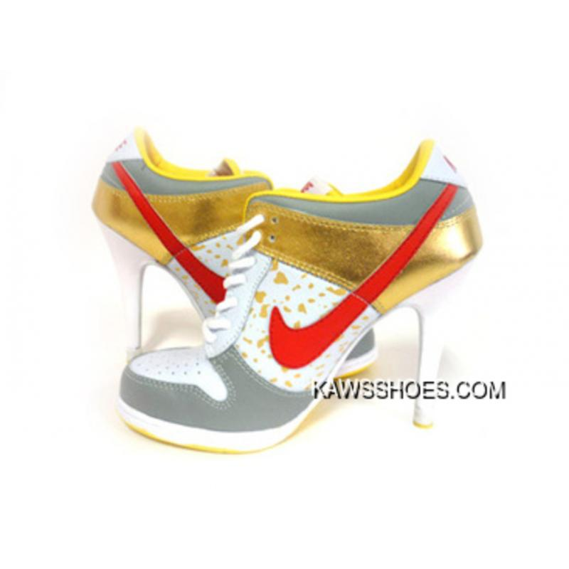 first rate 5ffa4 701ab New Red White Gold Nike High Heels Low Dunk Sb Shoes TopDeals