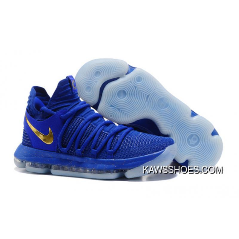 size 40 80c5f 735bd New Blue Metallic Royal Gold Nike Kdx 10 Finals Pe Shoes TopDeals ...