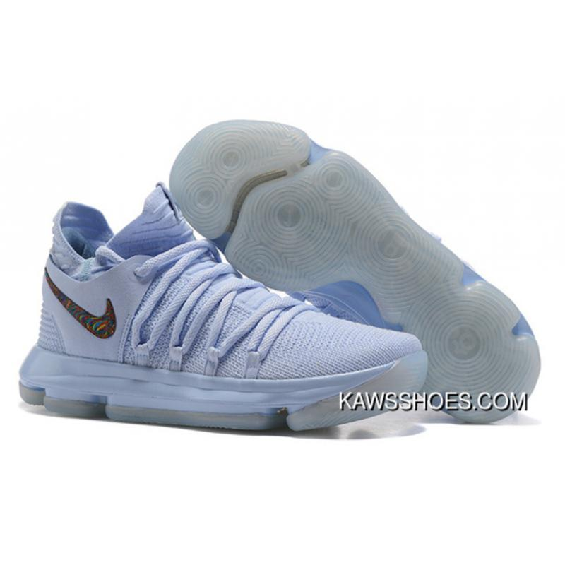 huge selection of 5c650 6a9c4 New Nike Kdx 10 Anniversary Faint Multi Blue Shoes TopDeals ...