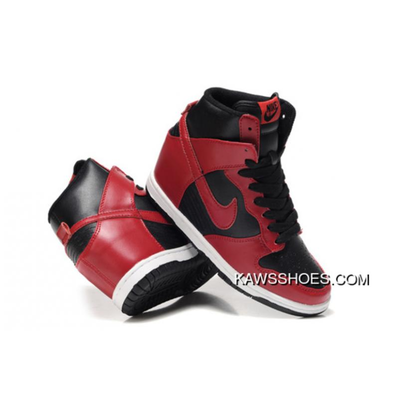 newest 6dffa e8511 ... New Nike Hi Dunk Wedge Sneakers 528899 700 Red Black Sky Shoes TopDeals  ...