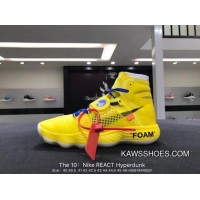 0b889a048e175 Top Deals Nike Authentic REACT The 10 Hyperdunk GHOSTING Theme Off-White  Collaboration Also Shoes