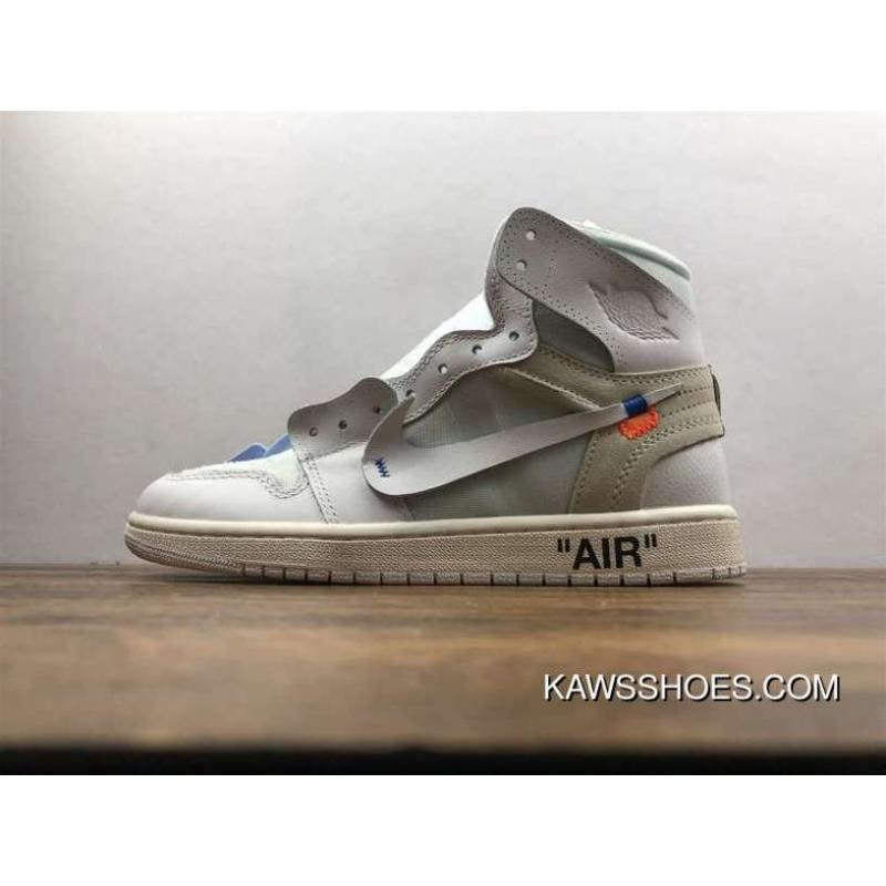 size 40 094bf 3d73a ZG Version Air Jordan 1 X OFF White Pure White Collaboration AQ8296-100 For  Sale
