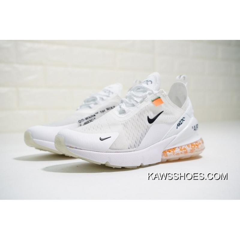 official photos f9d1b 4a3fc Discount Virgil Abloh Designer Brand Off White X Nike Air Max 270 Cushion  Suspension Zoom Particles 270 Series Heel Half-Palm Cushion Jogging Shoesow  ...