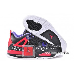 8e0ff00c8c5 New Air Jordan 4 Retro Womens Black White Red Purple Shoes TopDeals ...