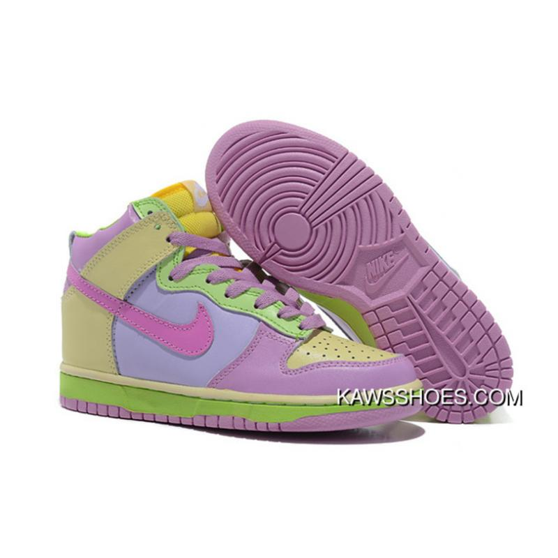 new arrival 605d5 94403 New Womens Purple Green Yellow Nike Dunk High Shoes TopDeals ...