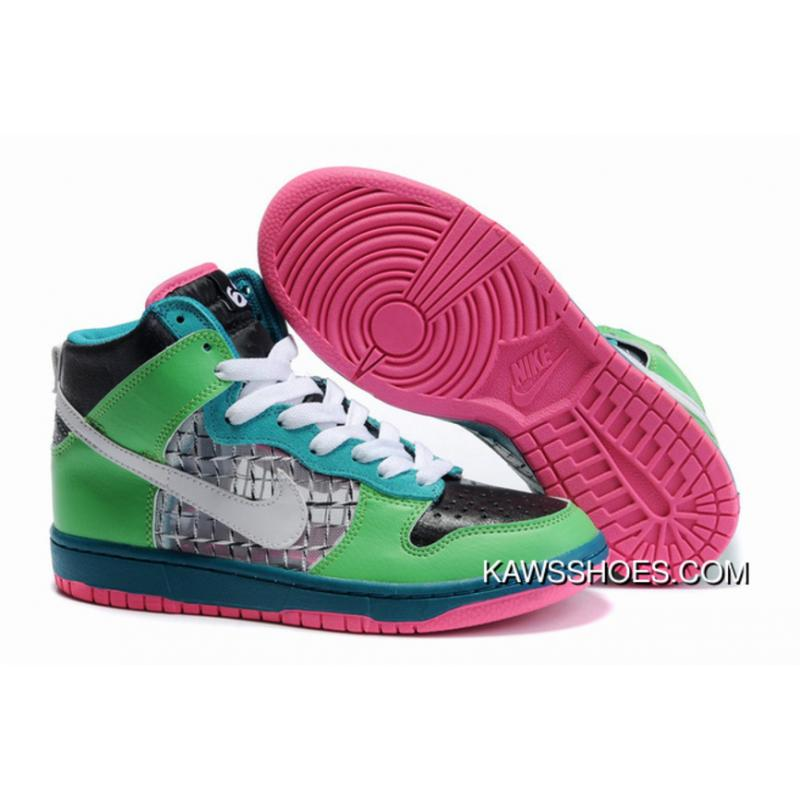 premium selection a8919 8ea42 New Custom Nike Dunk 6.0 High Tops 342257 311 White Green Black Shoes  TopDeals ...