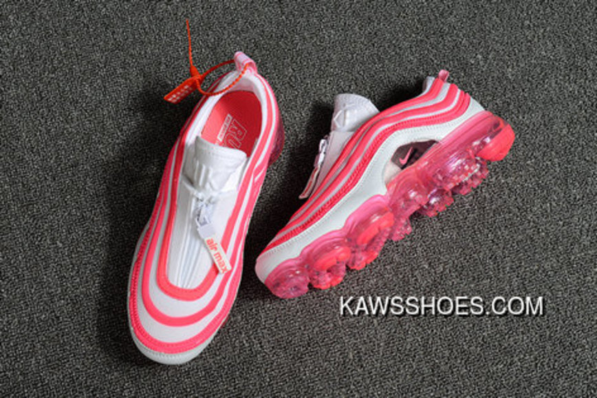 cf9b1faf4e 2018 Nike Air Max 97 X Air Vapormax Womens Pink White Super Deals ...