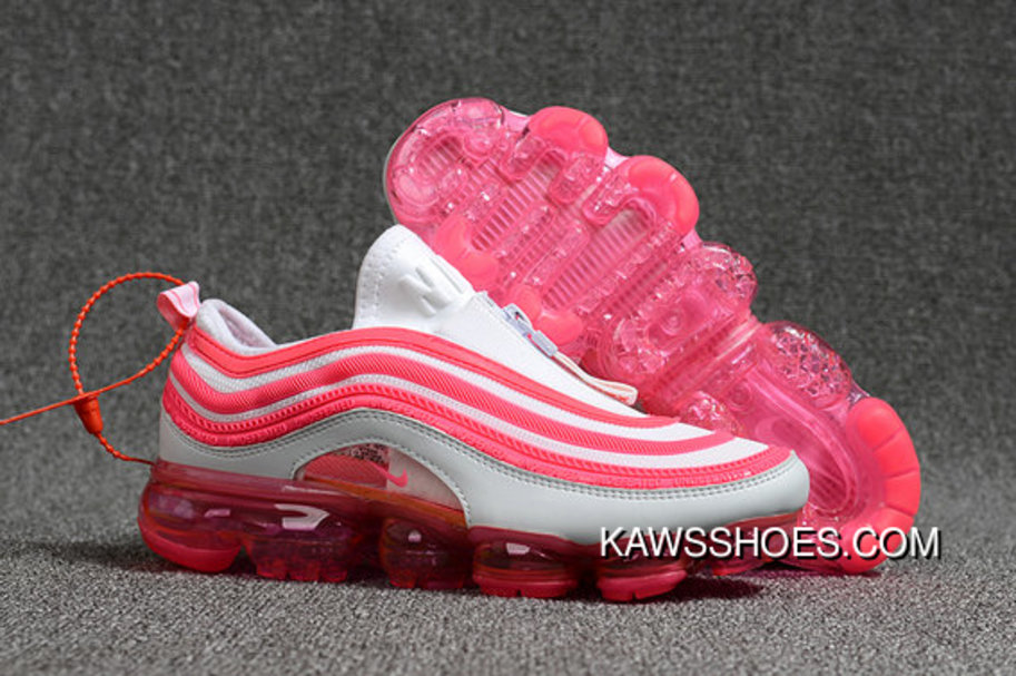 6da7b2742f7 2018 Nike Air Max 97 X Air Vapormax Womens Pink White Super Deals ...