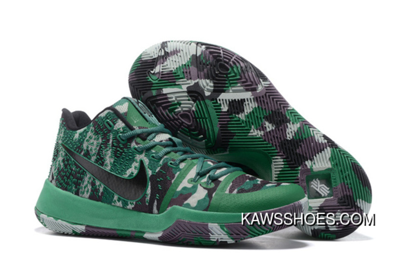 buy popular 2a217 0194b New Nike Kyrie 3 Camo Green Kyrie 3 Shoes TopDeals