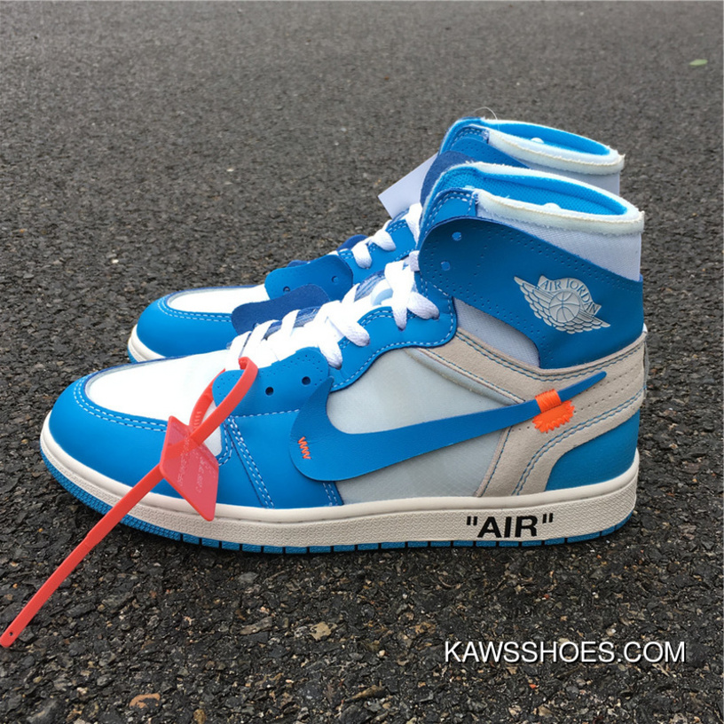 reputable site 9472f 219f9 OFF-WHITE Air Jordan 1 X Powder Blue North Carolina Blue UNC Men Shoes  AQ0818-148 Super Deals